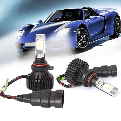 Lidauto 2 Piezas Bombillas LED para Faros Lámpara de luz de Coche Auto Brillo Alto Impermeable