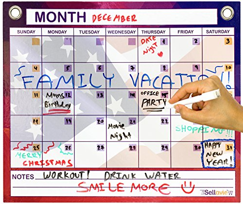 Magnetic Dry Erase Monthly Calendar By Sellavie 12 X 15