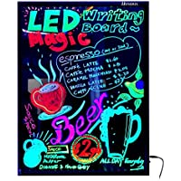 Tyke Supply Color Changing LED Writing Boards Remote Controlled Markers Included (60 cm x 80 cm)
