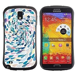 """Hypernova Slim Fit Dual Barniz Protector Caso Case Funda Para Samsung Note 3 [Natación del arte abstracto de la metáfora""""]"""