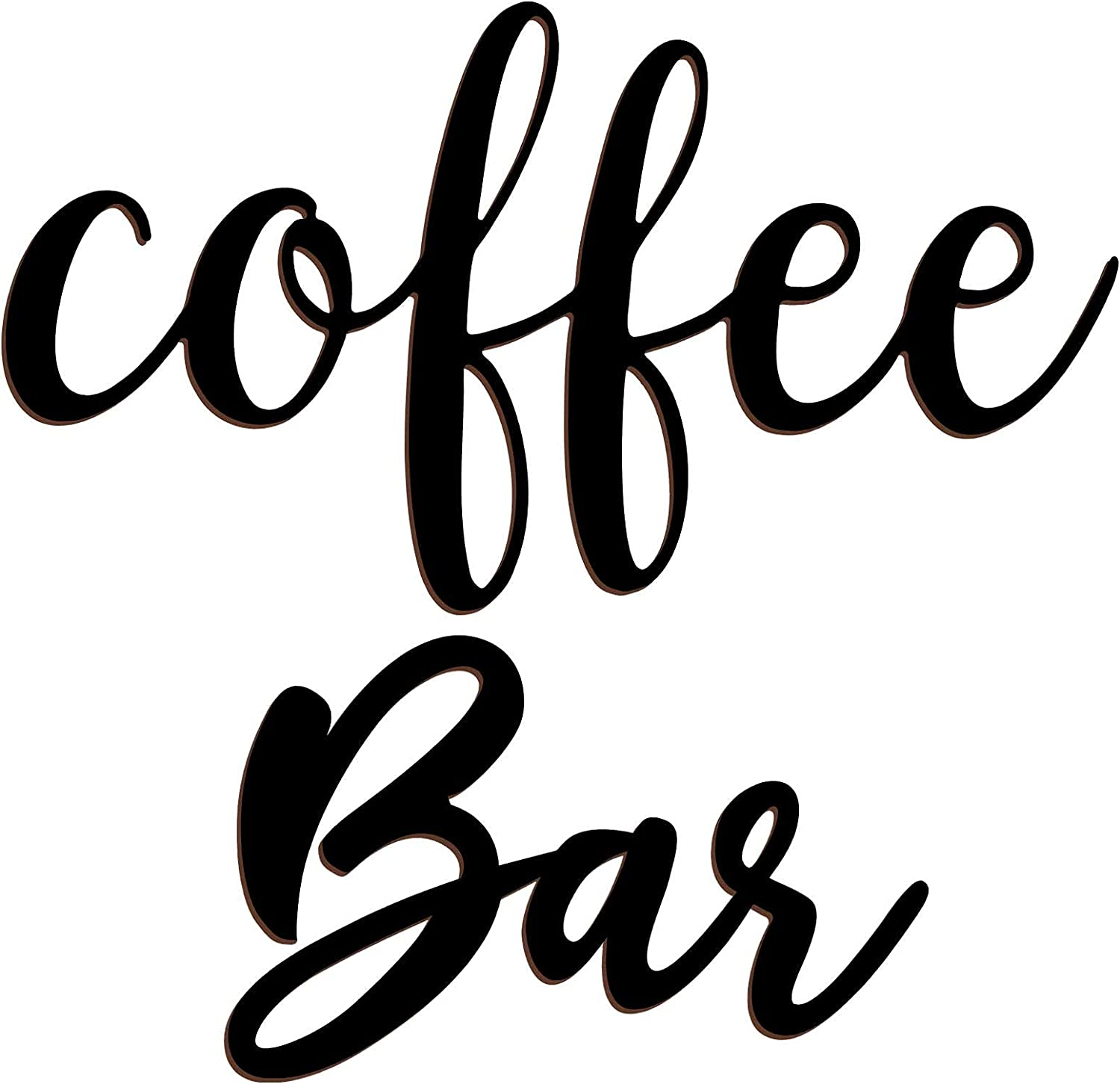 Jetec Coffee Bar Wooden Cutout Sign, Rustic Wood Coffee Bar Wall Decor, Black Cutout Farmhouse Coffee Sign for Dining Room, Coffee, Kitchen Home Decor