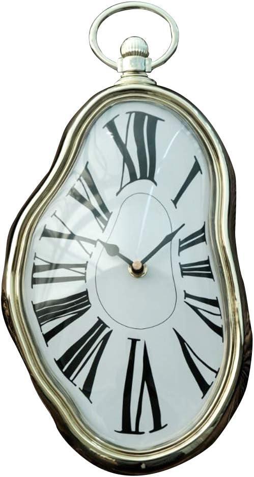 "Vegas Market Antique Wall Clock Melting Clock 7""X15"""