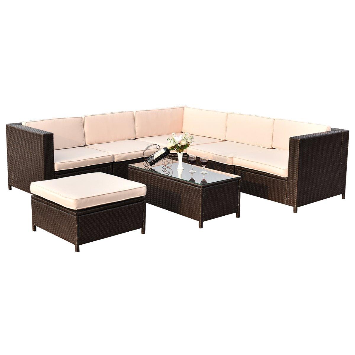 Amazon.com: Tangkula - Set de 7 unidades de muebles de ...