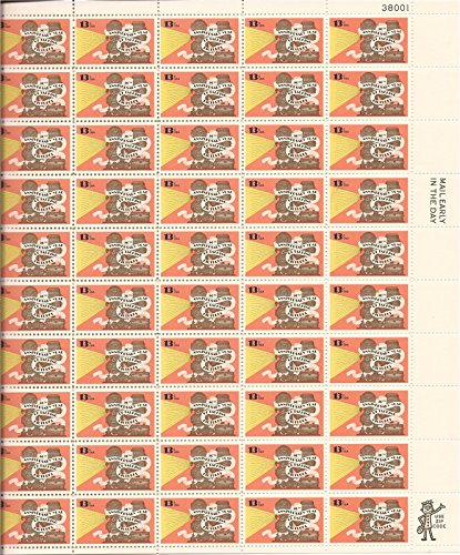 50th Anniversary Talking Pictures Sheet of 50 x 13 Cent US Postage Stamps Scott 1727