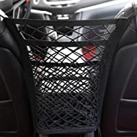 3-Layer Universal Car Seat Net Organizer,Car Purse Storage & Pocket (for Smaller Items) Kid Pet Barrier
