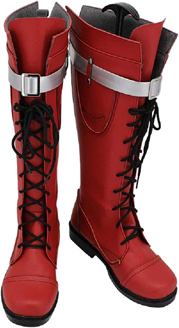 YYFZ Anime Cosplay Scarpe Fase Scarpe Halloween Party Red Boots Mens Versione Personalizzata Men S Size