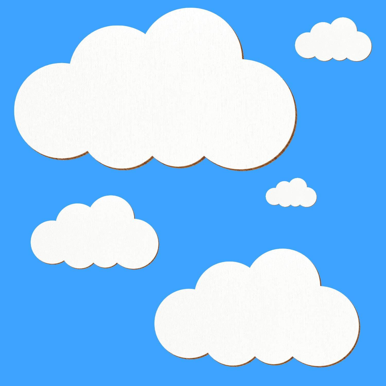 Holz Wolken weiß - 1-10cm Streudeko Basteln Deko Deko Deko Tischdeko, Pack mit 100 Stück, Größe Wolken 10cm breit B07J1SMM78 | Elegante Form  c88813