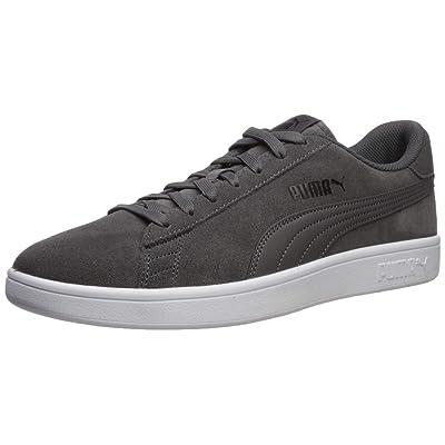 PUMA Smash Sneaker, Castlerock Black White, 7 M US   Fashion Sneakers