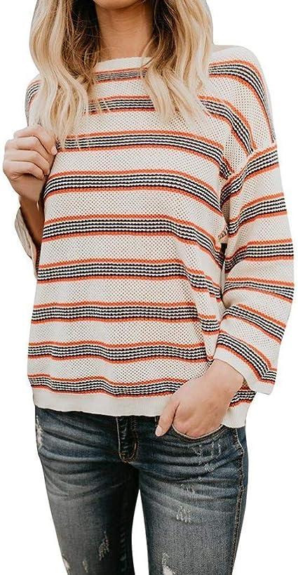 Heeecgoods New Look Plus Size Camiseta de Manga Larga a Rayas ...
