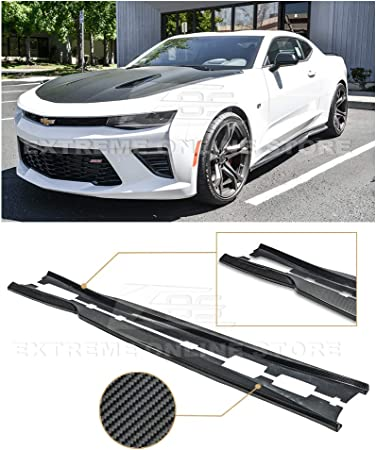 ECOTRIC For 16-Up Camaro RS /& SS ZL1 Style PRIMER BLACK Side Skirts Panel Extension