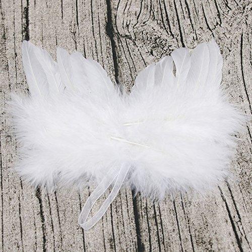 YOEDAF Ángel de Fotos para bebé, Diseño de alas de Plumas, Color Blanco, Blanco, Free Size