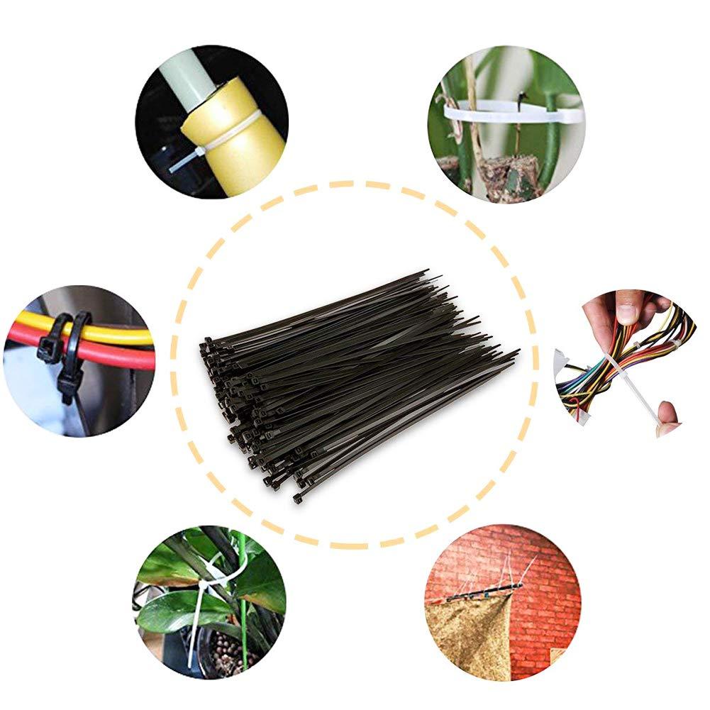 LAAT Serre-C/âbles en Nylon Zip Cable Ties Collier de Serrage 100pcs