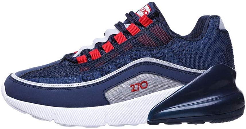 Zapatos de Running de los hombres, volando zapatos de deportes tejidos antideslizante resistente al desgaste transpirable malla desodorante plantillas al aire libre zapatillas de Running,Blue,40: Amazon.es: Hogar