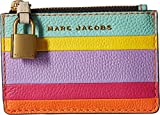 Marc Jacobs Women's The Grind Colorblocked Top Zip Multi Wallet, Mandarin Multi, One Size