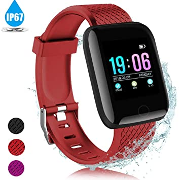 AIGUO Pulsera Actividad Inteligente, Smart Watch, Pulsera Inteligente, IP67 Impermeable, monitorizador de Actividad Pantalla Colorida con Monitor de ...