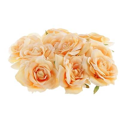 Sampada Synthetics Rose Artificial Single Side Flower Diy