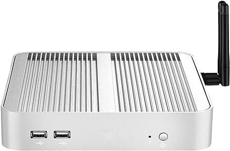 X26 Mini PC Smart TV Caja de Windows 10 y Linux OS, Intel Core i3, i5 con ventilador de HDMI + VGA Mini ordenador de escritorio: Amazon.es: Informática