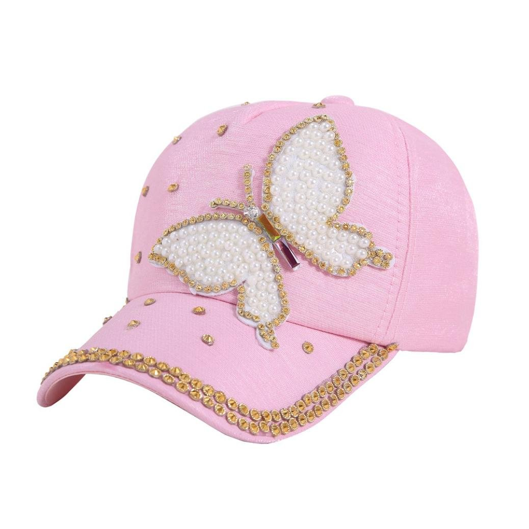 Mikkar Women's Baseball Cap Butterfly Curve Hat Hip Hop Adjustable Clearance