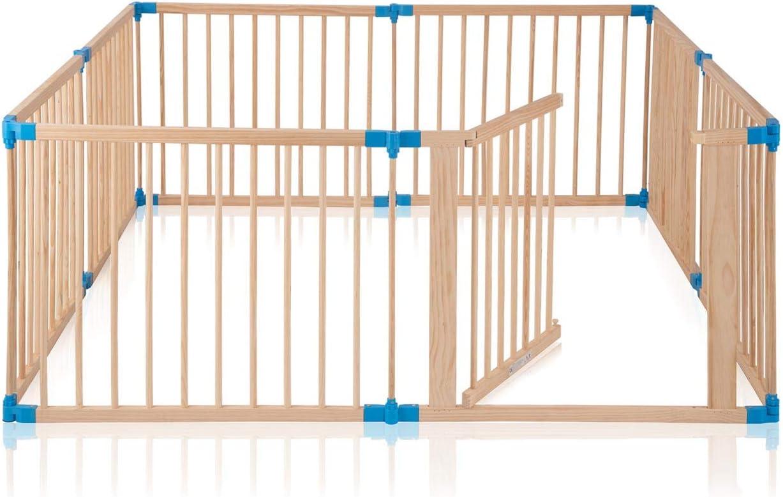 Baby Vivo Parque corralito Plegable Puerta Robusto Bebe Barrera de Seguridad hecho de Madera con Puertas - ajustable individualmente - 8 Elemente PREMIUM: Amazon.es: Bebé