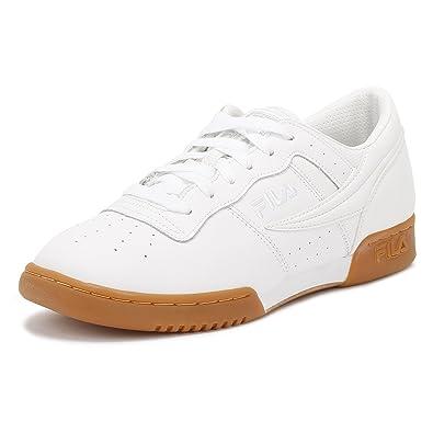 c5e666d49d Fila Herren Weiß/Gum Original Fitness Premium Sneakers: Amazon.de ...