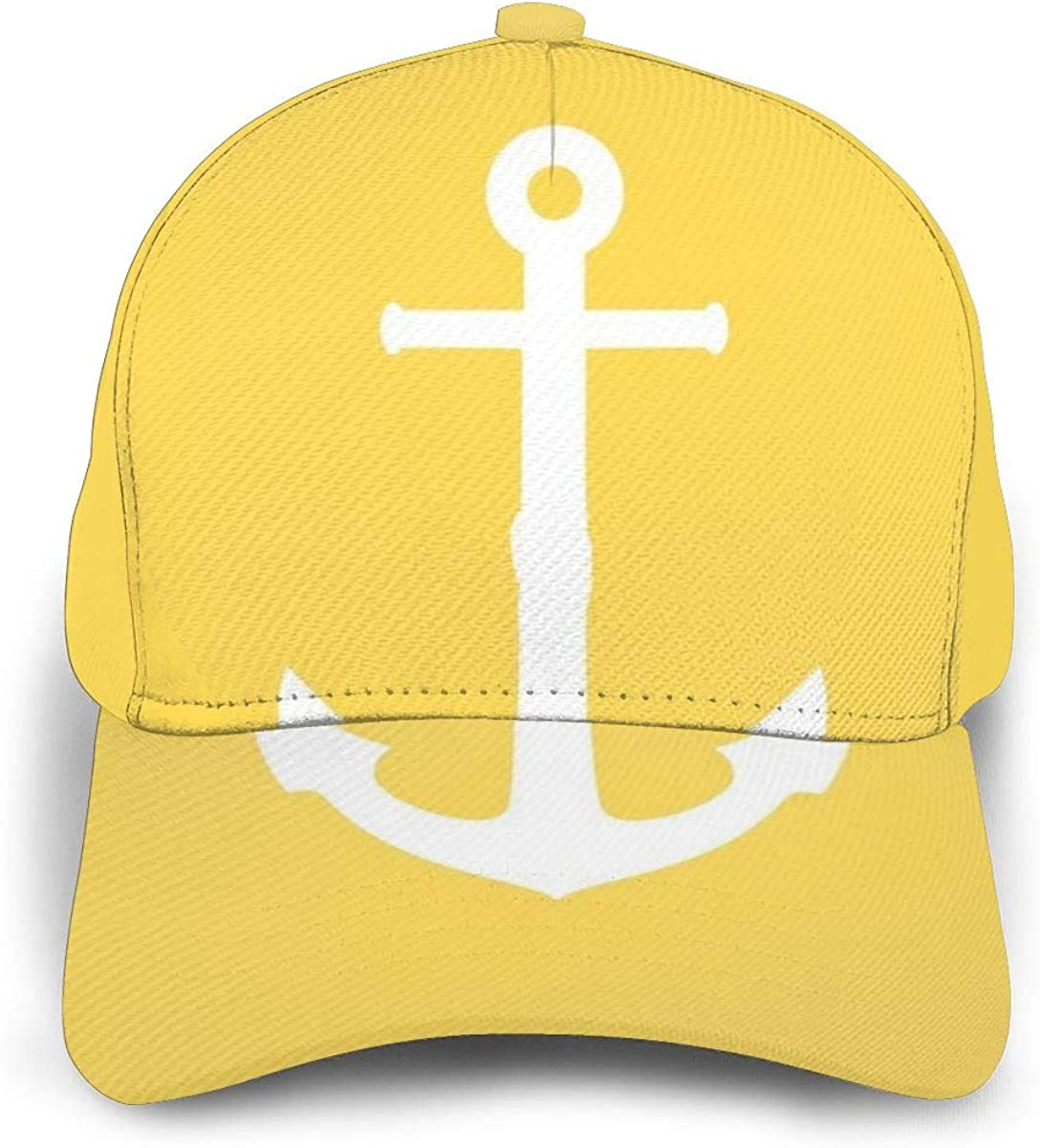 Liliylove White Anchor On Mustard - Gorra de béisbol Ajustable ...