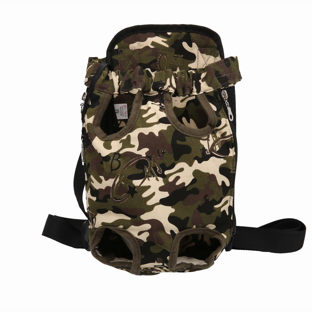 Camouflage SmallPet Carrier Backpack, Legs Out Front Pet Dog Carrier Front Chest Backpack Pet Cat Puppy Tote Holder Bag Sling Outdoor
