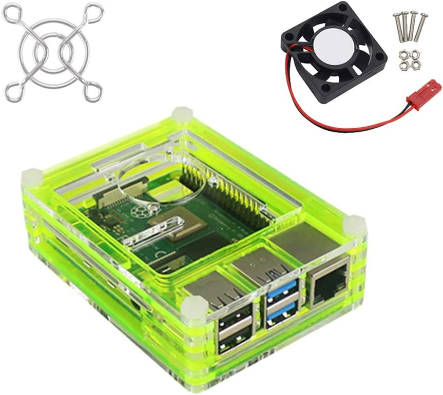 Blue Meijunter Replacement Case for Raspberry Pi 4 Model B Acrylic Shell Housing Anti Scratch Cover