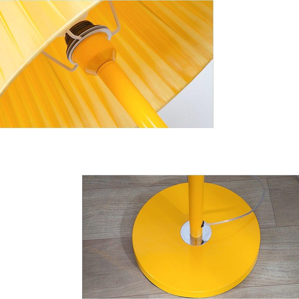 Moderne Stehleuchte Einfache Gelbe Schmiedeeisen Stehleuchte Kreative Plissee Stoff Lampenschirm Stehlampe F/ür Studie Wohnzimmer B/üro Schlafzimmer Caf/é Loft H155cm E27