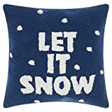 Mina Victory Home For The Holiday Let It Snow Pillow by Nourison