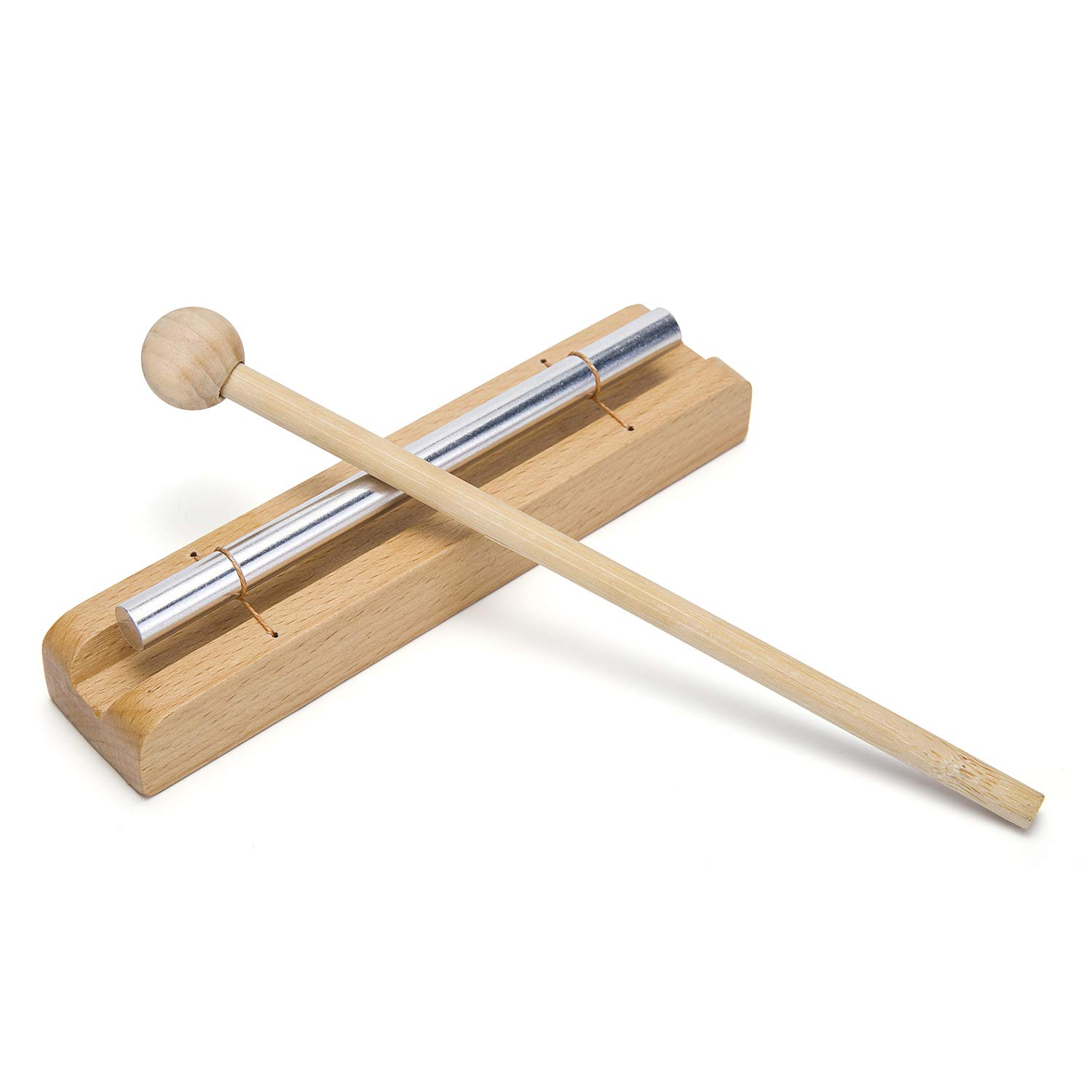 Zenergy Chime Solo - Eastern Energies Collection Musical Percussion Instrument with Mallet for Meditation, Classroom Use and Sound Therapy Mihey