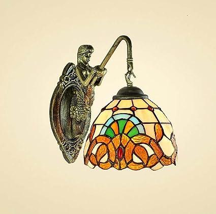 Amazon Com Gaoliqin Tiffany Style Wall Lamp Mediterranean Simple