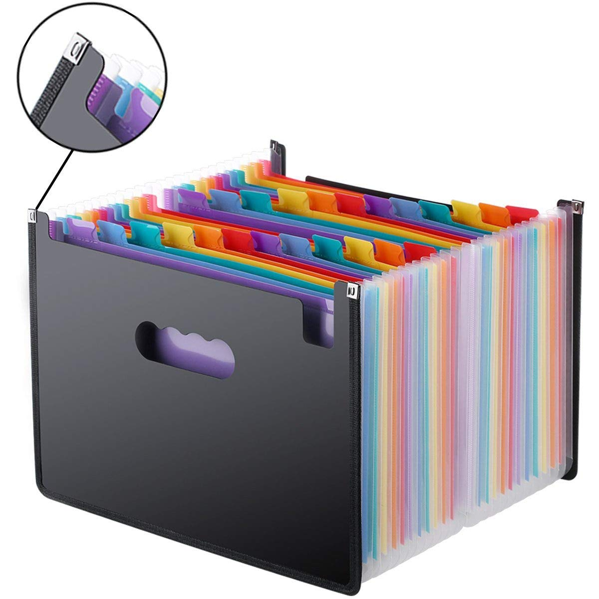 Leo-4Beauty - Sale 24 Pockets Expanding File Folder A4 Organizer Portable Business File Office Supplies Document Holder Carpeta Archivador - - Amazon .com