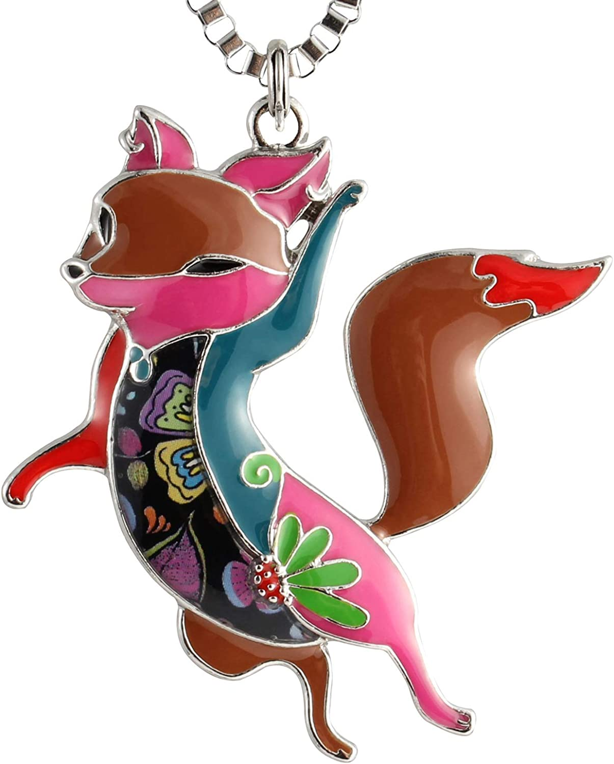 Fox And Flowers Jewelry Military Pendant Brand Necklace Metal Dog Tag