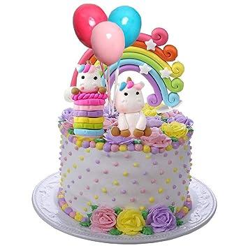 Miss Good Unicorn Cake Topper Cloud Rainbow Star Globo Cake ...