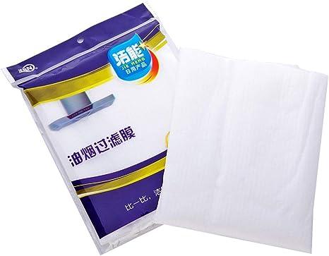 Cocción limpia Filtro de grasa de campana extractora no tejido Suministros de cocina Filtro de contaminación Papel de filtro de campana extractora de malla (COLOR: blanco): Amazon.es: Grandes electrodomésticos