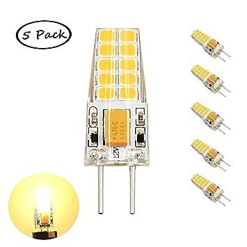 Bonlux 5-packs 12V 3W G6.35 LED Bombilla de Luz Cálida 3000k, 2835 SMD 300lm, Reemplazo de 30W Bombilla: Amazon.es: Hogar