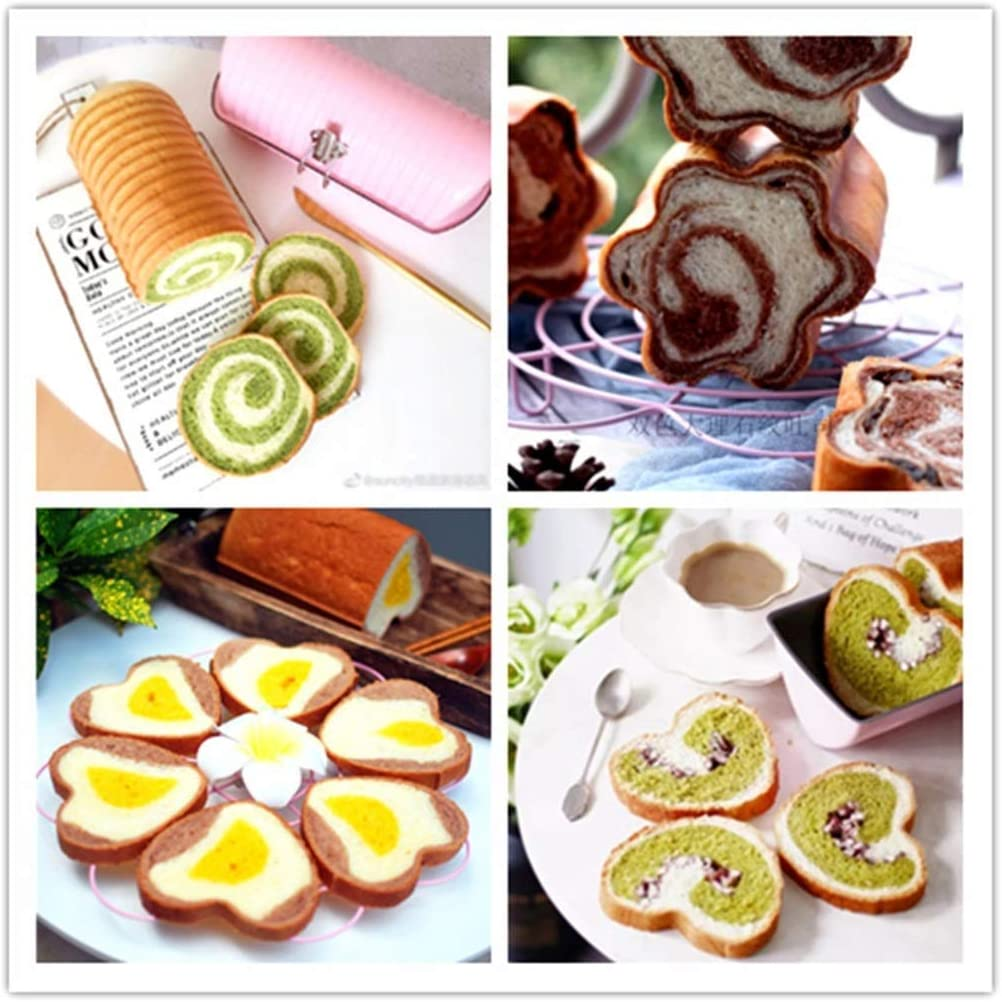 Loaf Tin Creative Heart-Shaped Flower Shape Bread Toast Mould Not Sticky Carbon Steel 450g Baking Baking Dish ZHANGXIAO Color : APink
