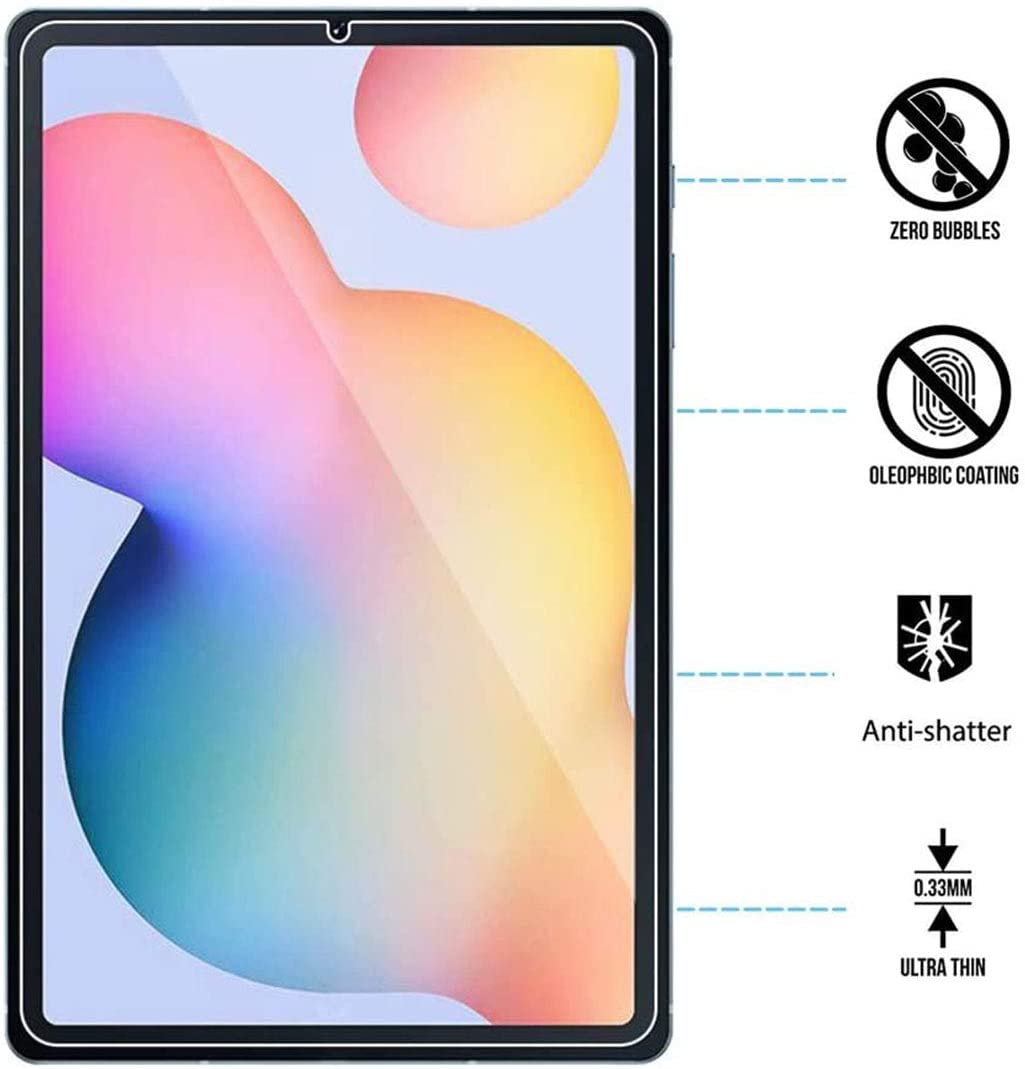 10.4 Inch LEEBOSS Samsung Galaxy Tab S6 Lite Screen Protector 2 Pack Ultra Clear 9H Hardness Premium Tempered Glass Film Screen Protector for Galaxy Tab S6 Lite 2020 // SM-P610 P615