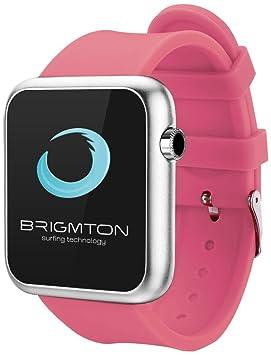 """Brigmton BWATCH-BT3R 1.44"""" Plata Reloj Inteligente - Relojes Inteligentes (3,66"""