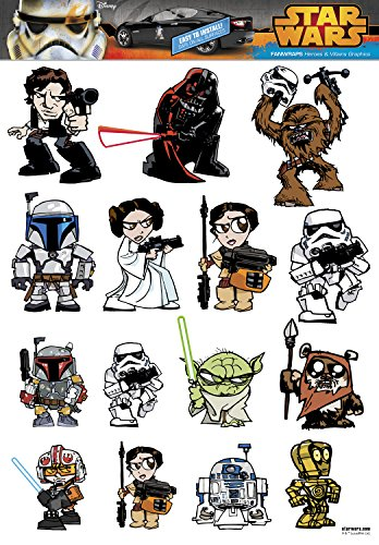 Star Wars FanWraps Star Wars Heroes and Villains Family Graphic Decal Sheet