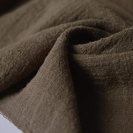 RUHUA Color Chino Doble bambú Textura Arrugada algodón Lino ...