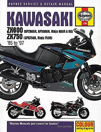 haynes manual kawasaki gpz600 gpx600 ninja 600 gpx750 85 97 each rh amazon co uk Kawasaki GPZ 550 1984 Kawasaki GPZ