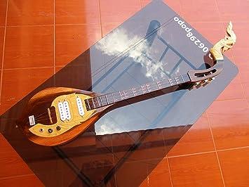 Isarn eléctrico Phin 3 cuerdas, Thai Lao guitarra instrumento musical, música tradicional tailandés pin44: Amazon.es: Instrumentos musicales
