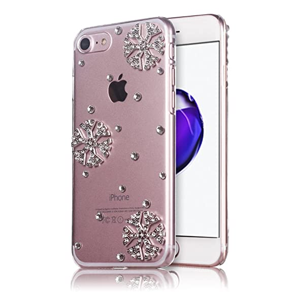snowflake iphone 7 case for christmas mini factory bling crystal clear rhinestone snowflake phone