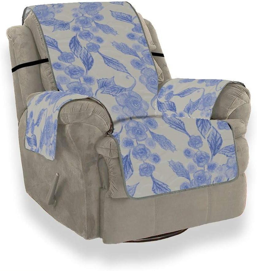 JOCHUAN Página Floral Funda de Flor Azul para sofá Funda para sofá Sofá Cojín Sofá Protector de Muebles para Mascotas, niños, Gatos, sofá