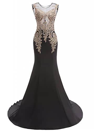 King's Love Women's Rhinestone Mermaid Evening Dresses Long Formal Party Gowns