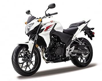 DieCast Modell Motorrad HONDA CB 500 F Schwarz Weiss Metall Welly Motorradmodell 118