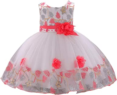 Baby Flower Girl Birthday Wedding Bridesmaid Pageant Party Formal Dress SZ 3M-3T