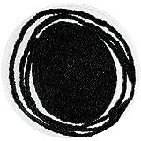 InterDesign Doodle Bedroom and Bathroom Accent  Rug, Black