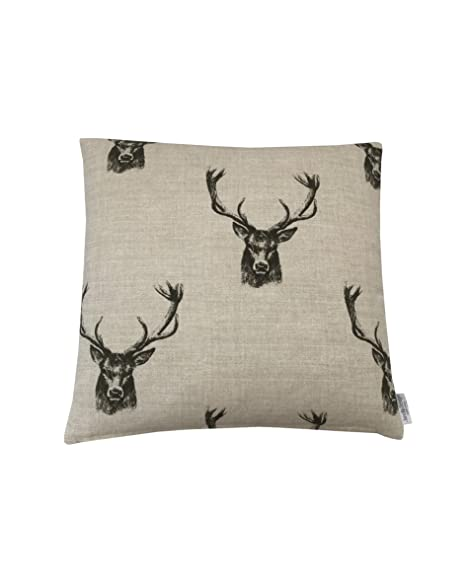 Set of 4 Tartan Check Cushion Covers Red /& Grey 18 inch Country Stag or Hare